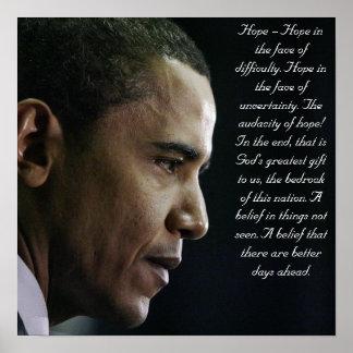 Barack Obama hoppaffisch Poster