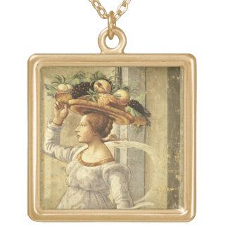 Bärande frukt för kvinna, från födelsen av St John Guldpläterat Halsband