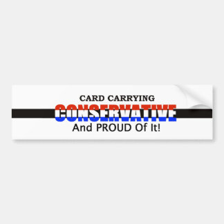 Bärande konservativ för kort bildekal