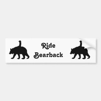 Barbackaa björn för ritt bildekal