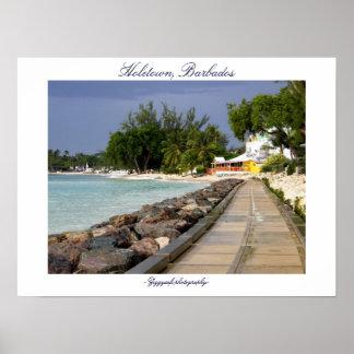 barbados boardwalkaffisch poster