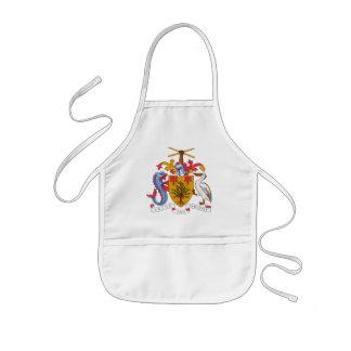 barbados emblem barnförkläde