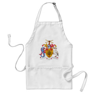 barbados emblem förkläde