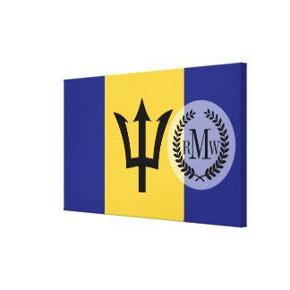 Barbados flagga canvastryck