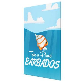 Barbados reser affischen canvastryck