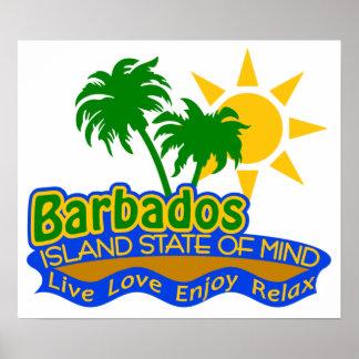 Barbados som är statliga av Mind affischen Poster