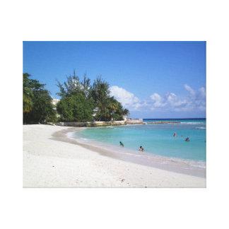 Barbados stränder canvastryck