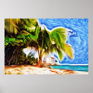 Barbados strandplats poster