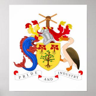 Barbados vapensköld poster