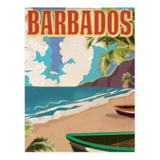Barbados vintage resoraffisch vykort