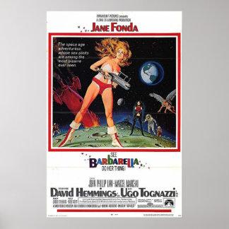 Barbarella filmaffisch poster