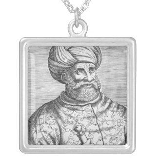 Barbarossa illustration från Andre Thevets Silverpläterat Halsband