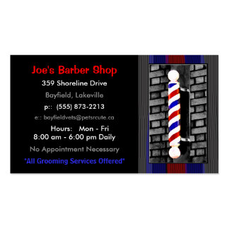 Barberare-/manar hårstylistvisitkortar set av standard visitkort