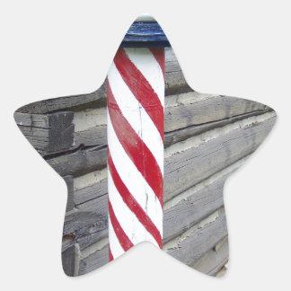 Barberare Pole Stjärnformat Klistermärke