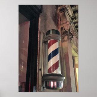 Barberaren shoppar det Pole fotoet Poster