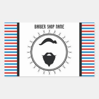 Barberaren shoppar mallen rektangulärt klistermärke