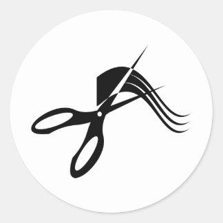 Barberaresax - hårstylist runt klistermärke