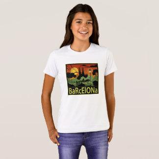 Barcelona flicka T-tröja T-shirts