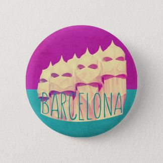 Barcelona Gaudi paradis Standard Knapp Rund 5.7 Cm