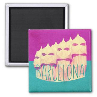 Barcelona Gaudi paradismagnet Magnet