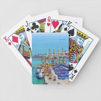 Barcelona hamn spelkort