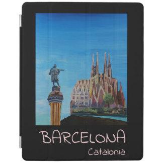 Barcelona Spanien Retro affisch iPad Skydd