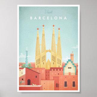 Barcelona vintage resoraffisch poster
