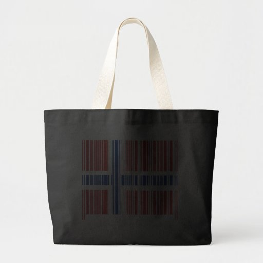 Barcodenorgeflagga Tote Bags
