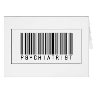 Barcodepsykiater Hälsningskort