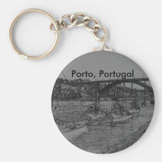 Barcos Porto, Portugal Rund Nyckelring