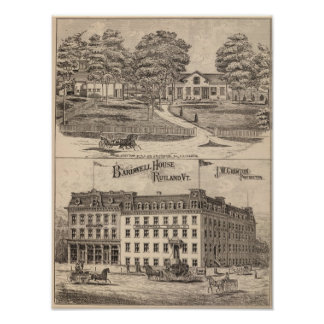 Bardwell hus i Rutland Vermont Poster