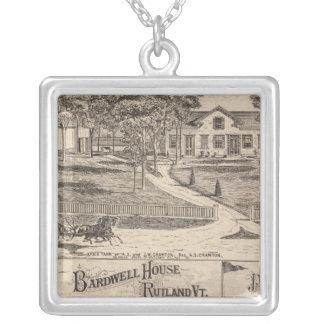 Bardwell hus i Rutland Vermont Silverpläterat Halsband
