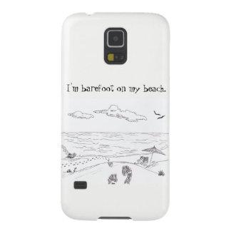 Barfota på min strandSamsung galax S5 Galaxy S5 Fodral