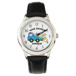 Bärgningsbil för ringbärarebröllop armbandsur