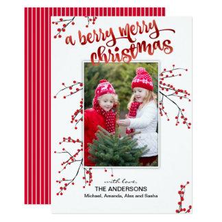 Bärgod jul med ditt foto 12,7 x 17,8 cm inbjudningskort