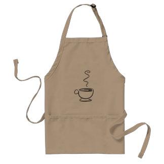 Barista enhetlig kaffekopp förkläde