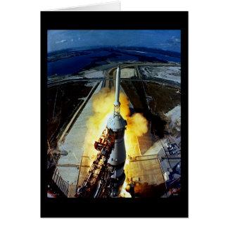 Barkass av första manar till månen - Apollo 11 Hälsningskort