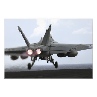 Barkasser för en bålgeting för F/A-18E toppna Fotografiska Tryck