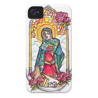 Barmhärtigt Mary jungfruligt Mary fodral iPhone 4 Case-Mate Fodraler