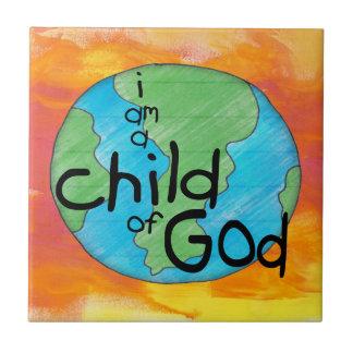 Barn av guden kakelplatta