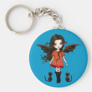 Barn av Halloween den gulliga vampyren Keychain Rund Nyckelring