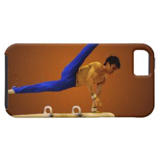 Barn bemannar praktisera gymnastik på pommelen iPhone 5 fodral