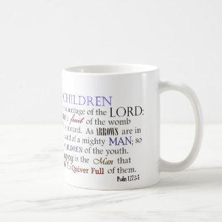 Barn för Psalm 127 är arvet av lorden Kaffemugg