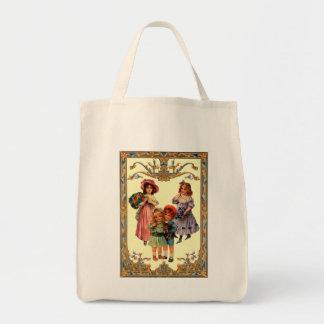 Barn för Victorian för vintagereproduktionskonst h Tygkasse