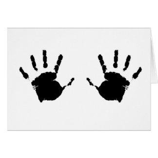 Barn Handprints Hälsningskort