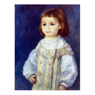 Barn i vit av Pierre Renoir Vykort
