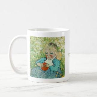 Barn med en orange av Vincent Van Gogh Kaffemugg