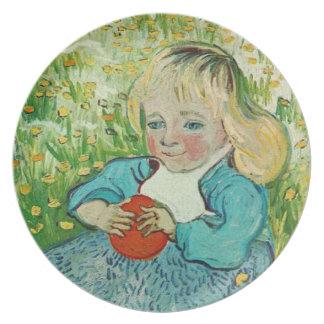 Barn med en orange av Vincent Van Gogh Tallrik