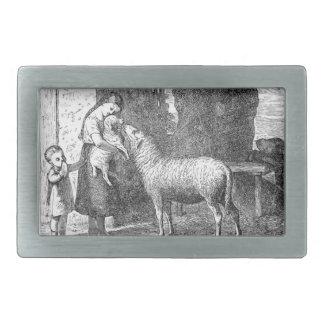 Barn med fårvintagekonst