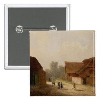 Barn på det långt hem- - mer snäll förmiddag Heimw Standard Kanpp Fyrkantig 5.1 Cm